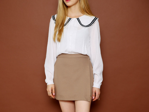 Middy-Collared Blouse