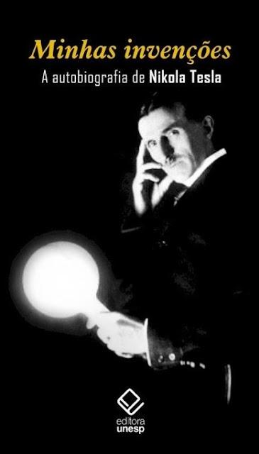 Capa do livro Minhas invenções de Nikola Tesla