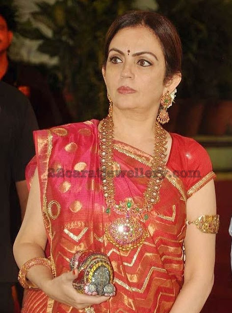 Nita Ambani in Mango Mala Arm Band