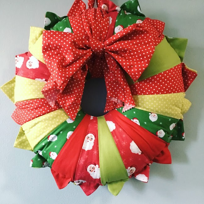 dresden plate fabric wreath sewing tutorial