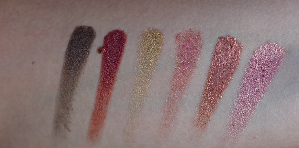 Huda Beauty Textured Shadows Palette Rose Gold Edition swatches