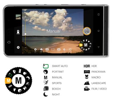 Mode Manual Kodak Ektra, sama dengan mode kamera DSLR