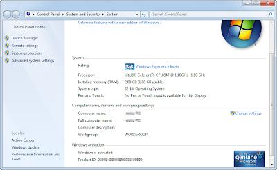Cara Aktivasi Windows 7 Permanen Ultimet dan Professional