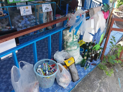 photo of the recycling station at Blue View Divers in Thailand