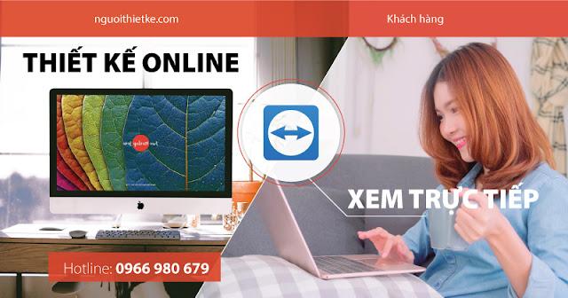 Dịch vụ thiết kế online chuyên nghiệp, xem trực tiếp qua teamviewer