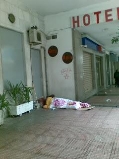 Άστεγος στην Πειραιώς χειμώνας 2015