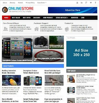 CB Online Store Blogger Template