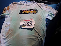 Race shirt all muddied up.