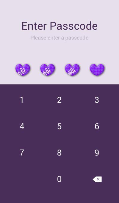 Purple check simple heart