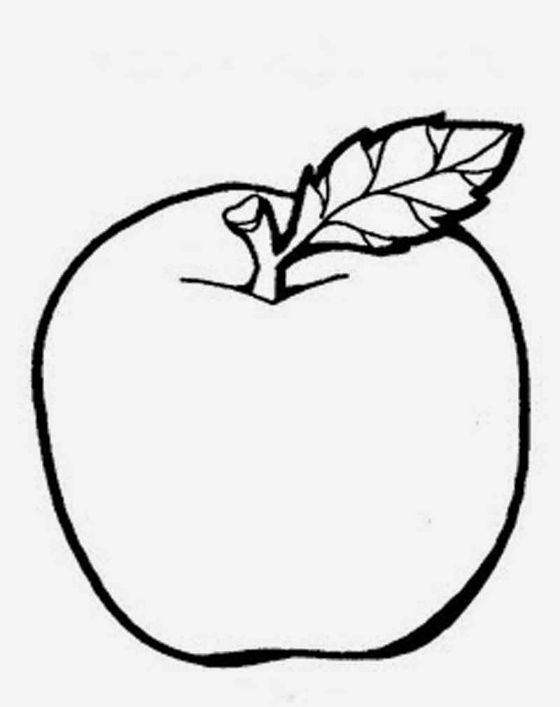 Gambar Mewarnai Apel ~ Gambar Mewarnai Lucu