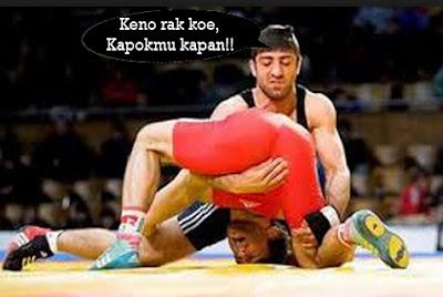gambar olahraga gulat bebas lucu dan gokil