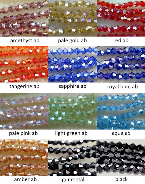 4mm crystal glass beads