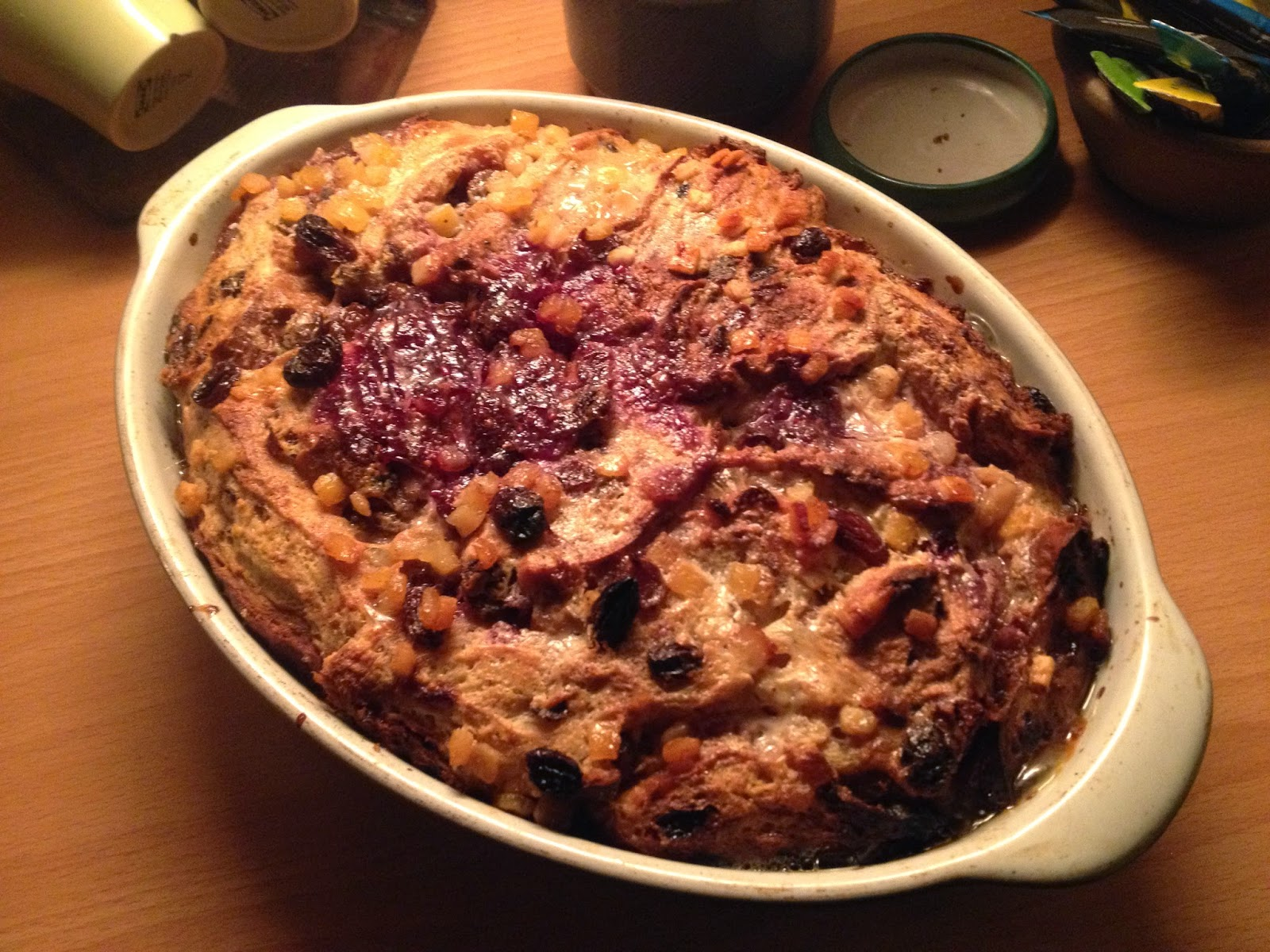 homemade bread and butter pudding