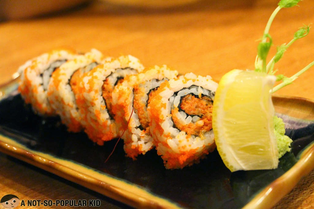 The interestingly flavored Dynamite Roll of Yumi Japanese Restaurant