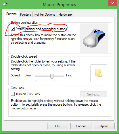 Mouse Buttons Swapping by Batch Scripting
