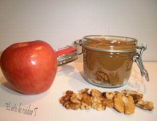 Mermelada casera de manzana, canela y nueces