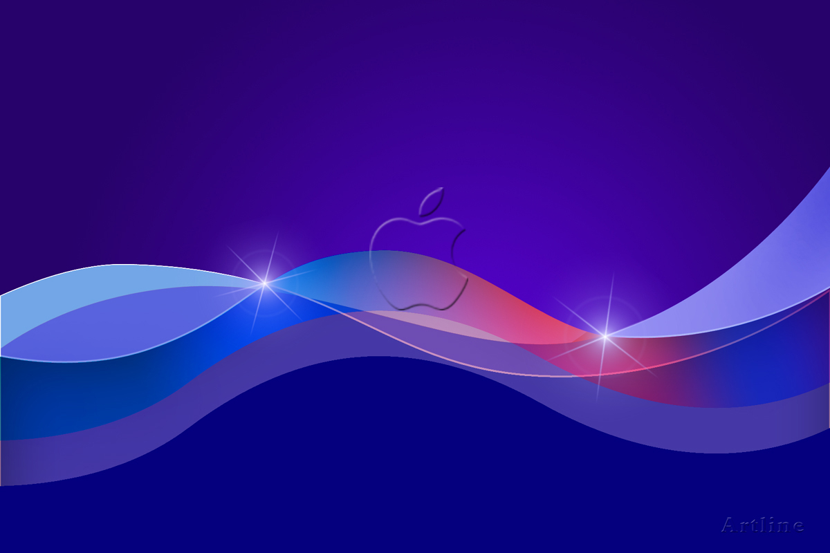 3D Abstact Vector HD background for Apple Mac ~ Artline ...