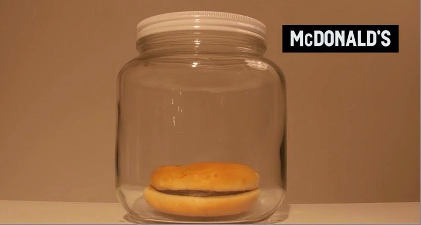 hambúrguer mac'donalds apodrece