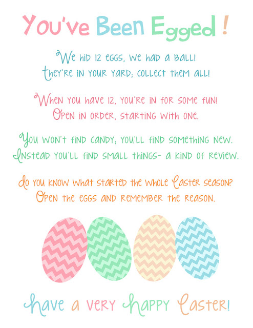 You've Been Egged Free Printable