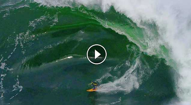 Russell Bierke Battles a Heavy Day at Shipstern Bluff Sessions
