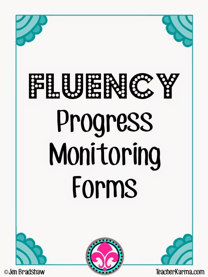 reading fluency progress monitoring teacherkarma.com
