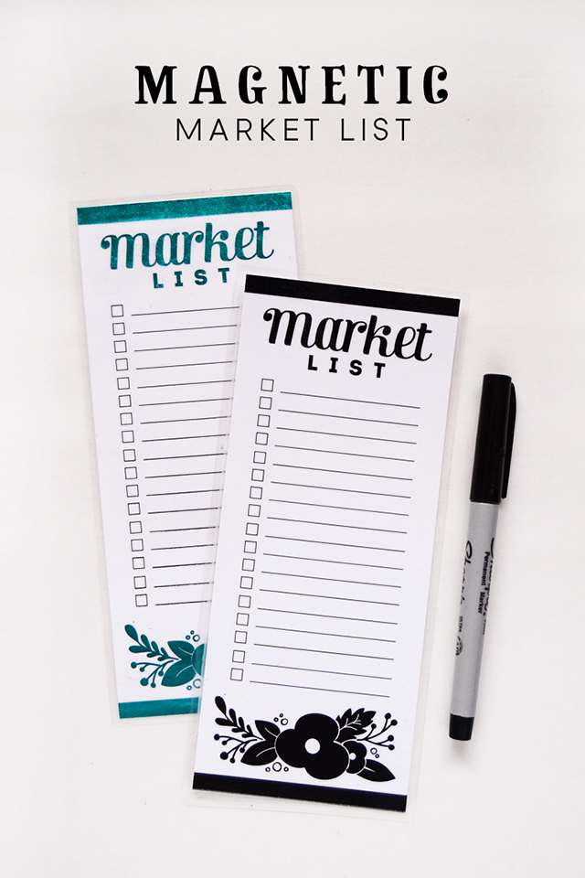 Magnetic Market List at Consumer Crafts - Minted Strawberry