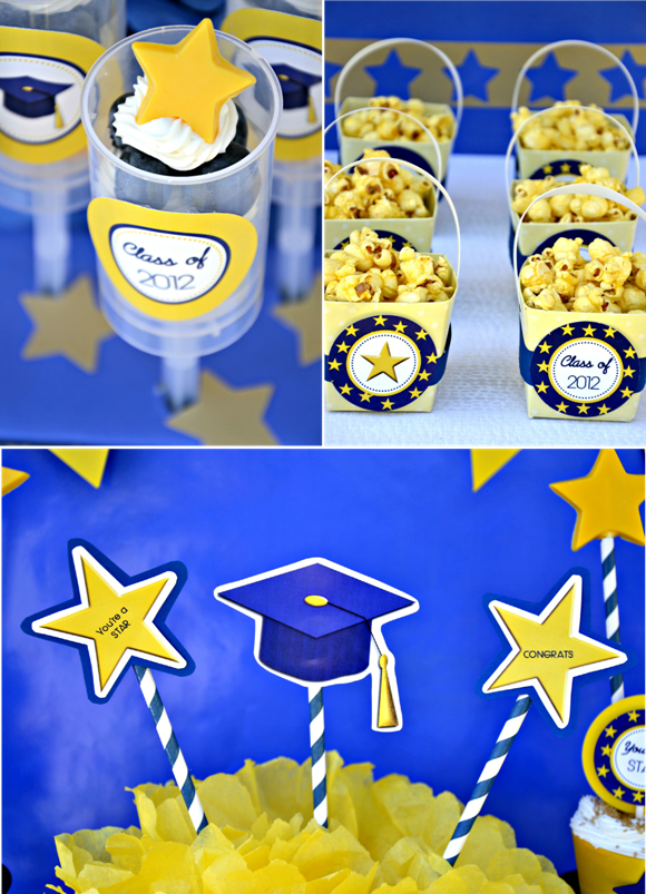 Graduation Free Printable Kit 2014 - BirdsParty.com