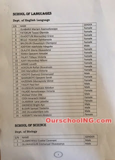 Adeyemi College Ondo Prelim 1st Admission List – 2016/2017