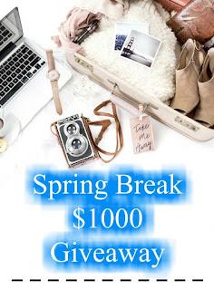 Enter the Spring Break $1000 Group Giveaway. Ends 4/24