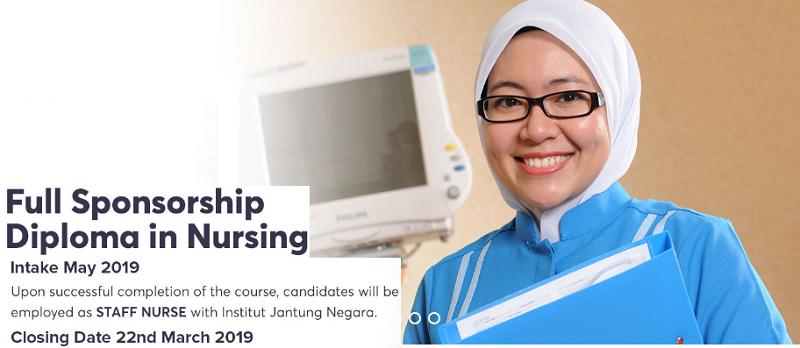 Diploma in Nursing Institut Jantung Negara scholarship
