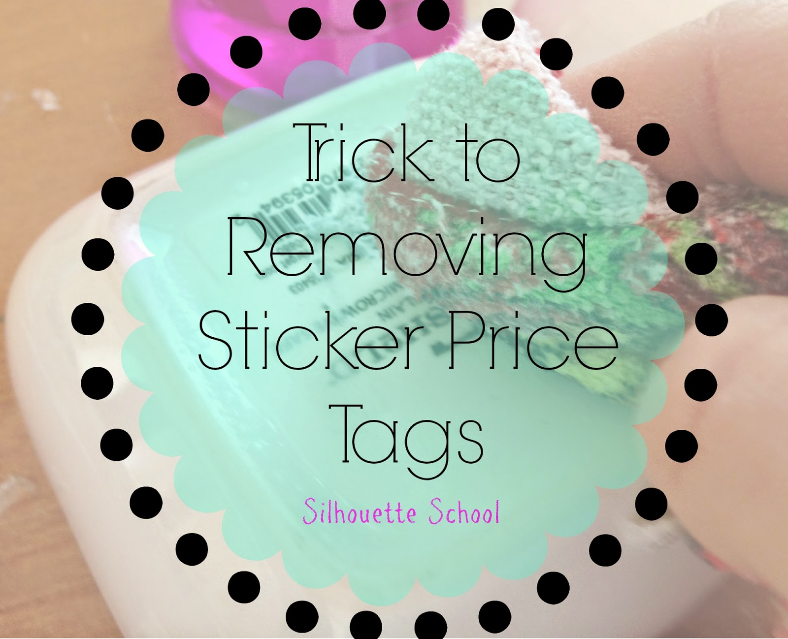 Sticker price tag, removing price tag