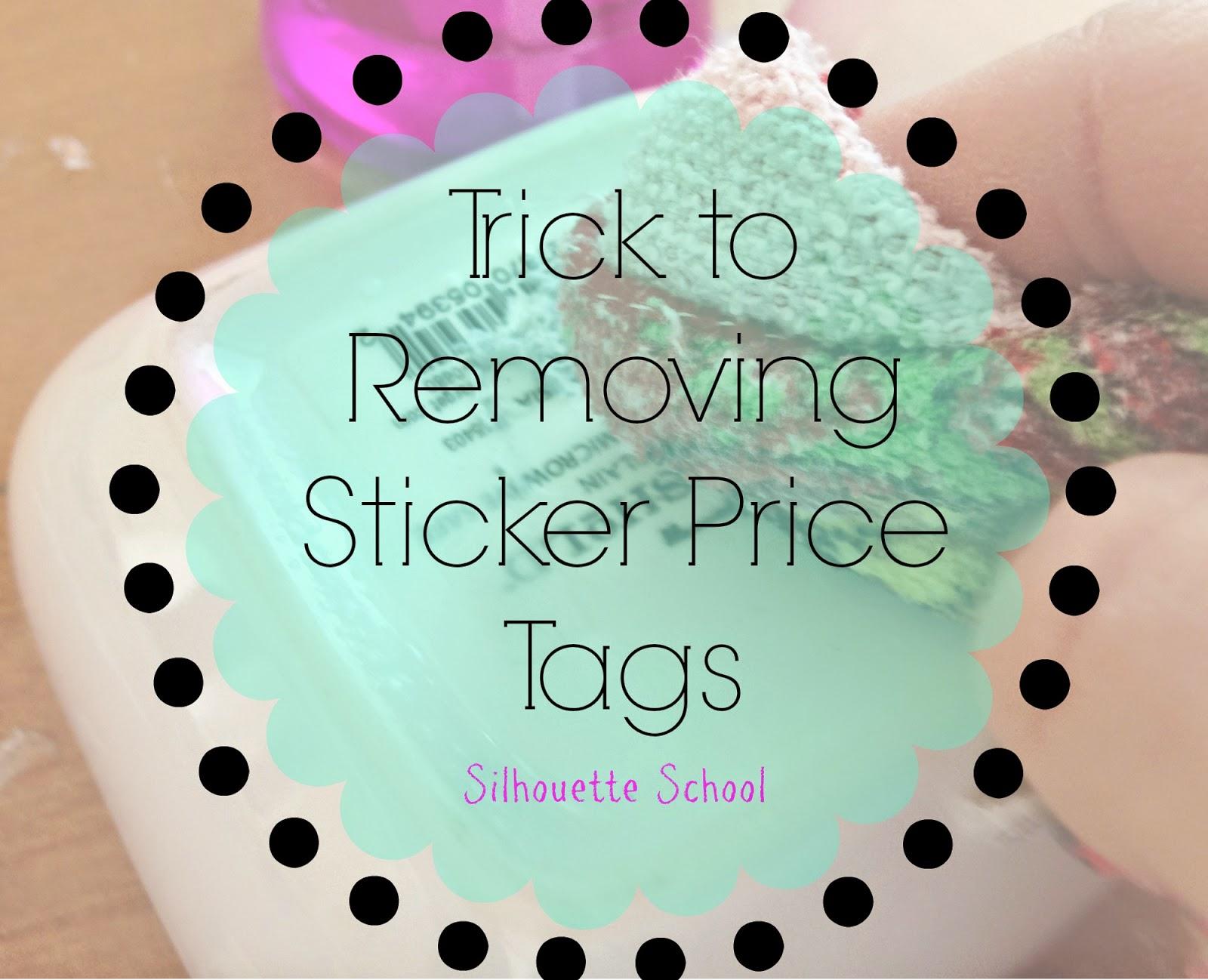 Sticker price tag, removing price tag