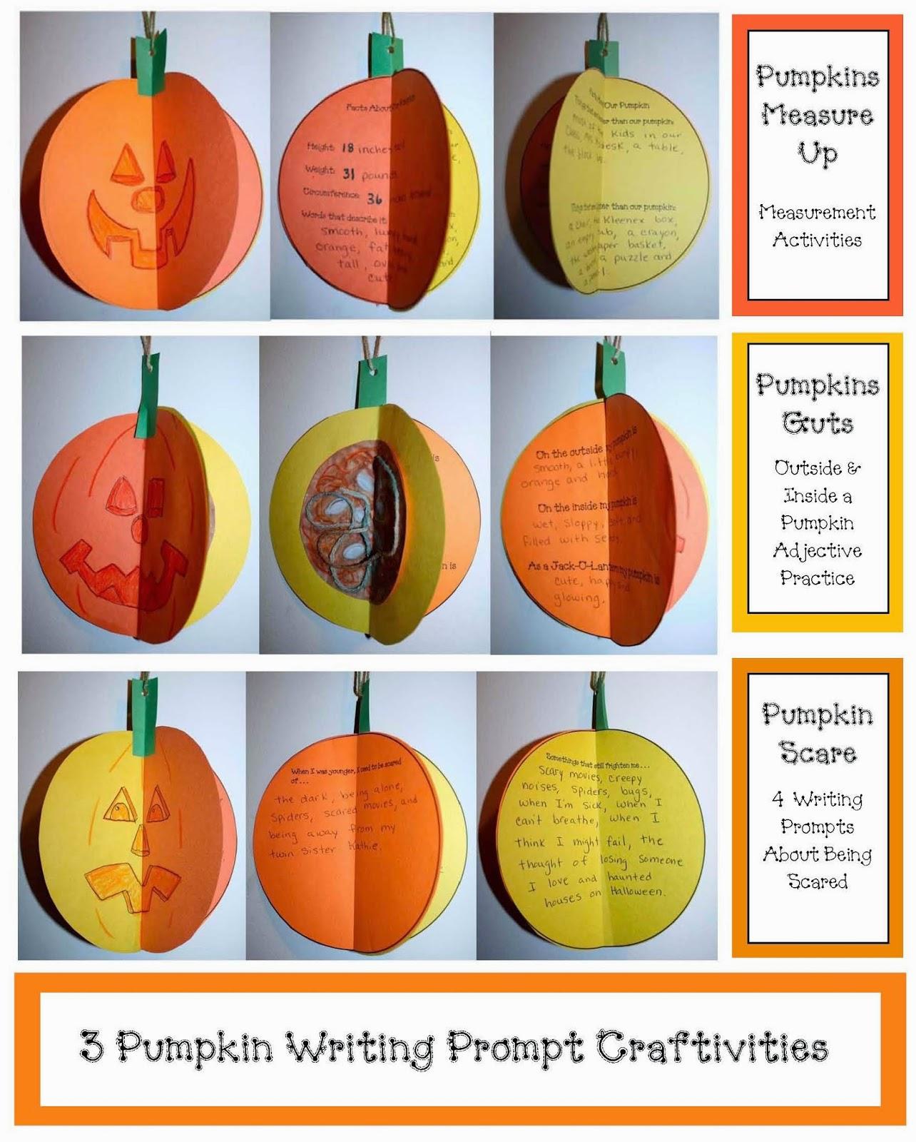 Classroom Freebies 3d Pumpkin Writing Prompt Craftivities