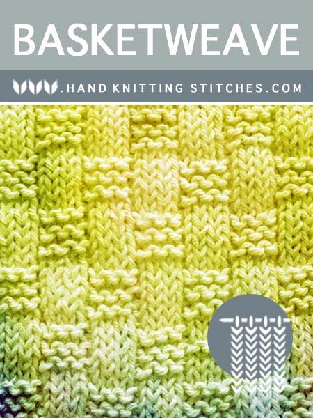 Hand Knitting Stitches - Basketweave #KnitPurl Pattern
