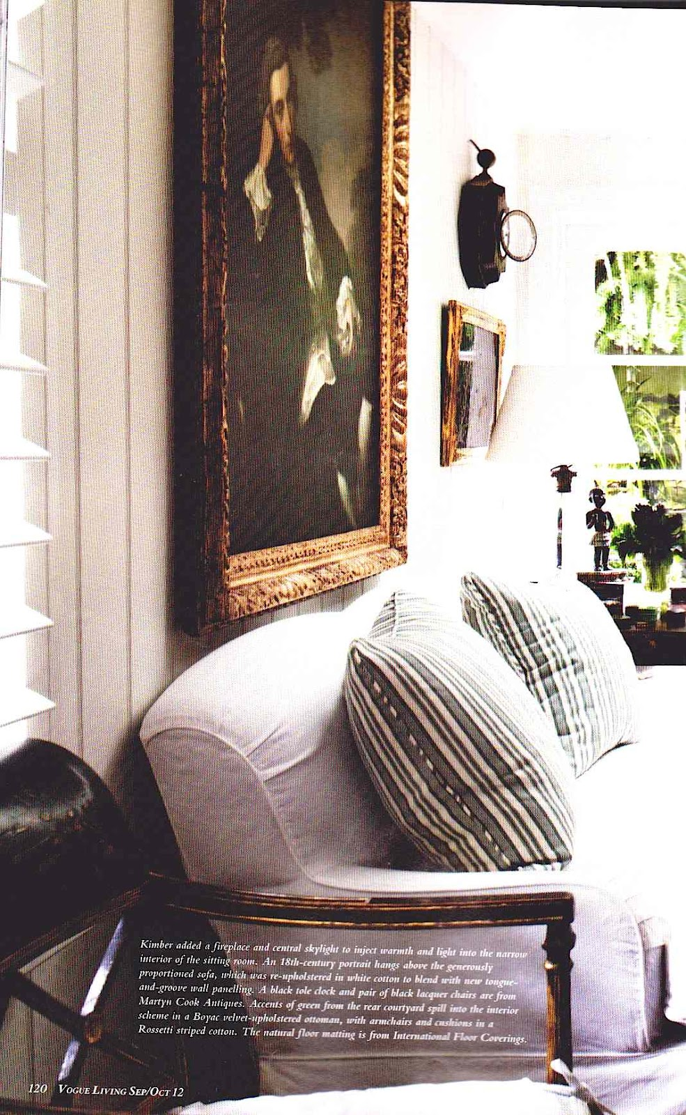 how to clean dirty white leather sofa bright pillows a library of design: vogue living. just beautiful.