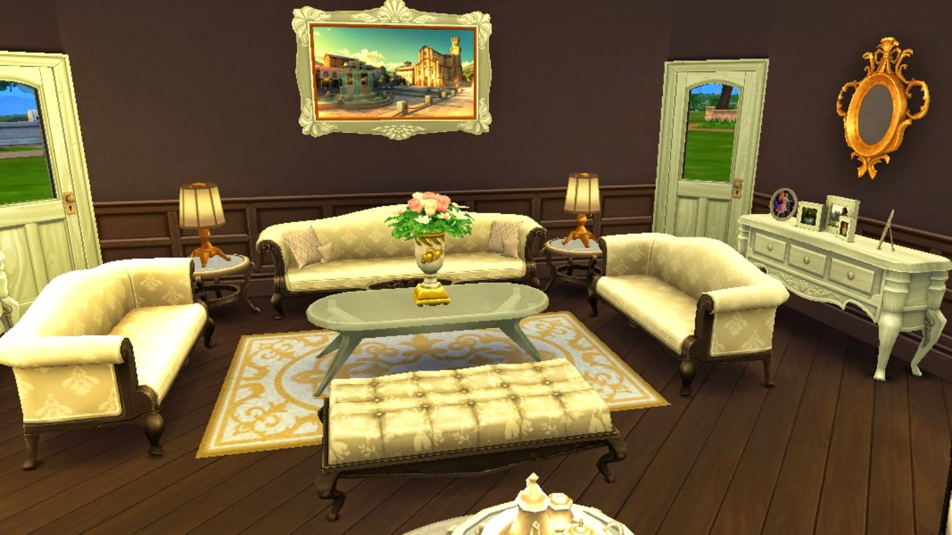 Sims 4 Living Room,Sims 4 Elegant Living Room