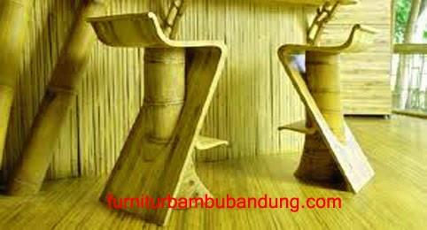 Furnitur Bambu Bandung Kursi Bar Jual Harga Desain