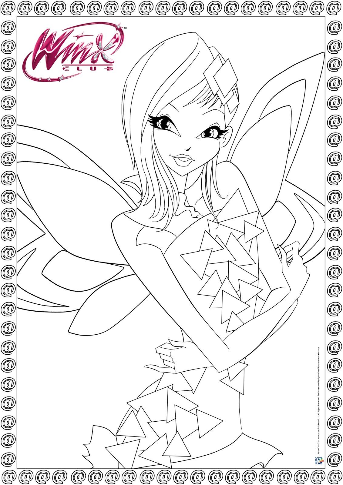 Imprime y Colorea al Winx Club Tynix ~ My Winx Club-Pretty!*.