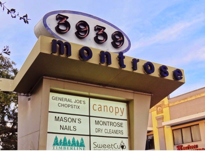 3939 Montrose Blvd Shopping Center Directory (sign)
