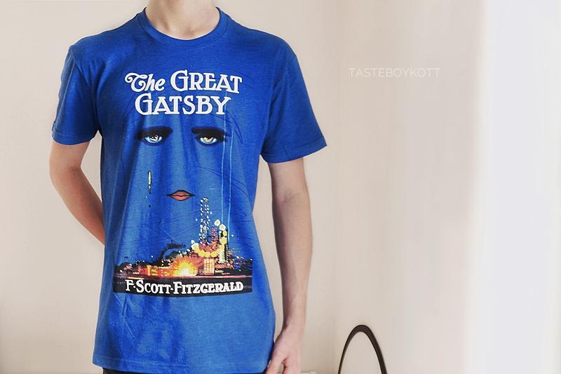 The Great Gatsby T-Shirt blue original cover artwork men summer fashion // Great Gatsby Original Cover T-Shirt Herren für den Sommer