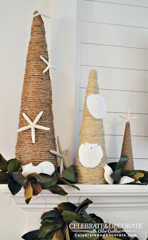 Nautical Rope Cone Trees