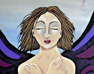 Metamorphosis of a Woman Original Painting of Woman with Wings