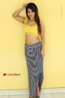 Cute Telugu Actress Shunaya Solanki High Definition Spicy Pos in Yellow Top and Skirt  0485.JPG