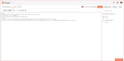 Masuk ke Mode HTML