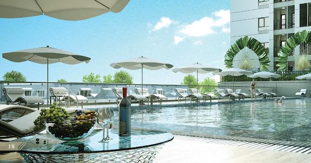 Bể bơi hiện đại tại dự án Royal Park