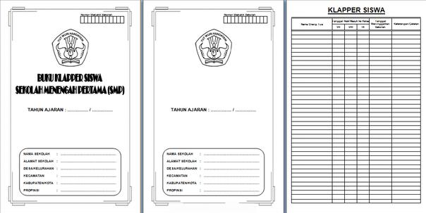 Buku Klapper SD-MI SMP-MTs SMA-MA