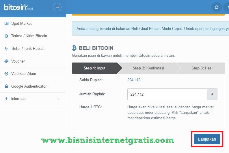 cara indėlis rupiah di bitcoin co id