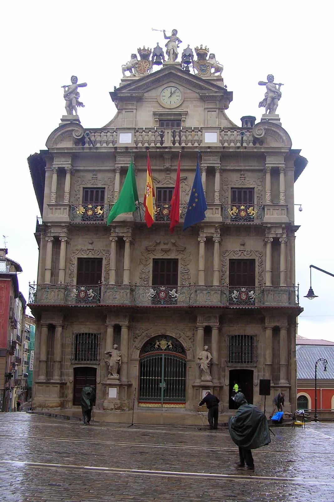 La Casa Consistorial, Ayuntamiento de Pamplona.