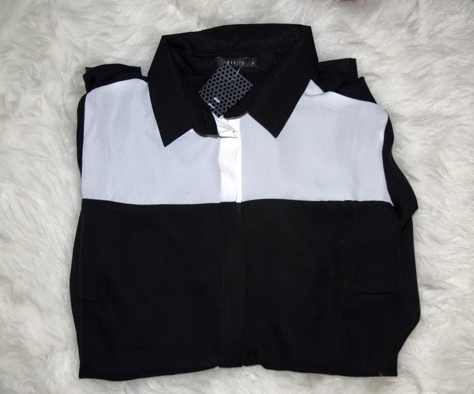 biało-czarna koszula z Mohito