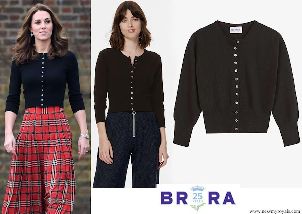 Kate Middleton wore Brora Cashmere Cropped cardigan